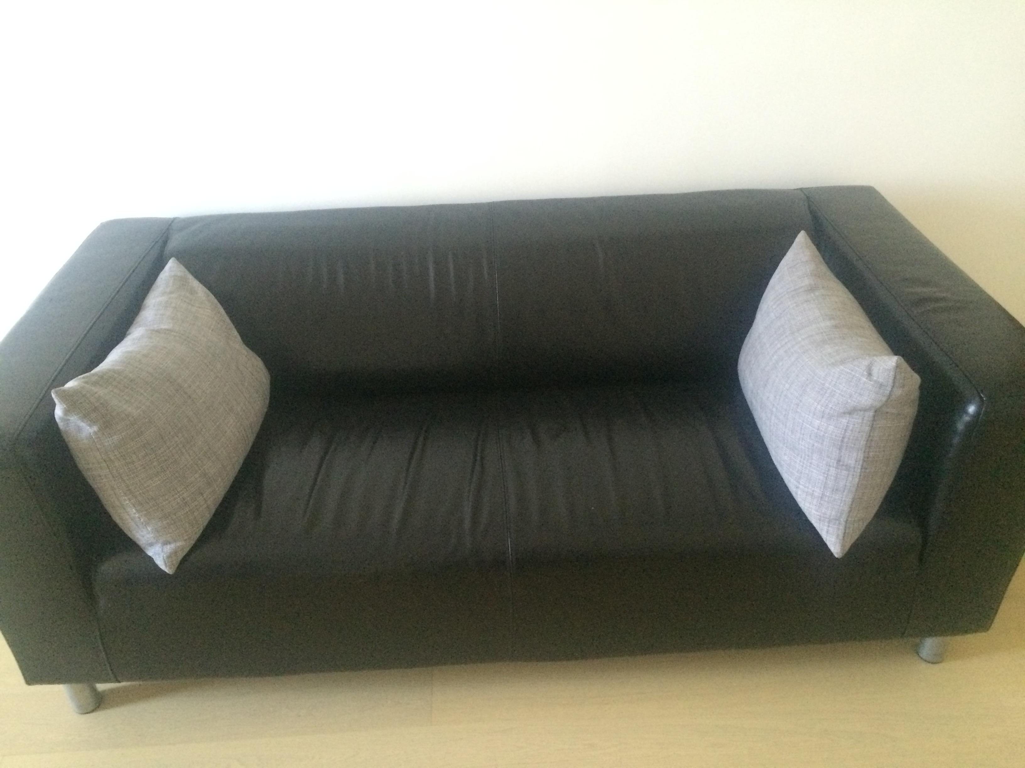 Amazing Leather Sofa For Sale Good As New Ikea Klippan Machost Co Dining Chair Design Ideas Machostcouk