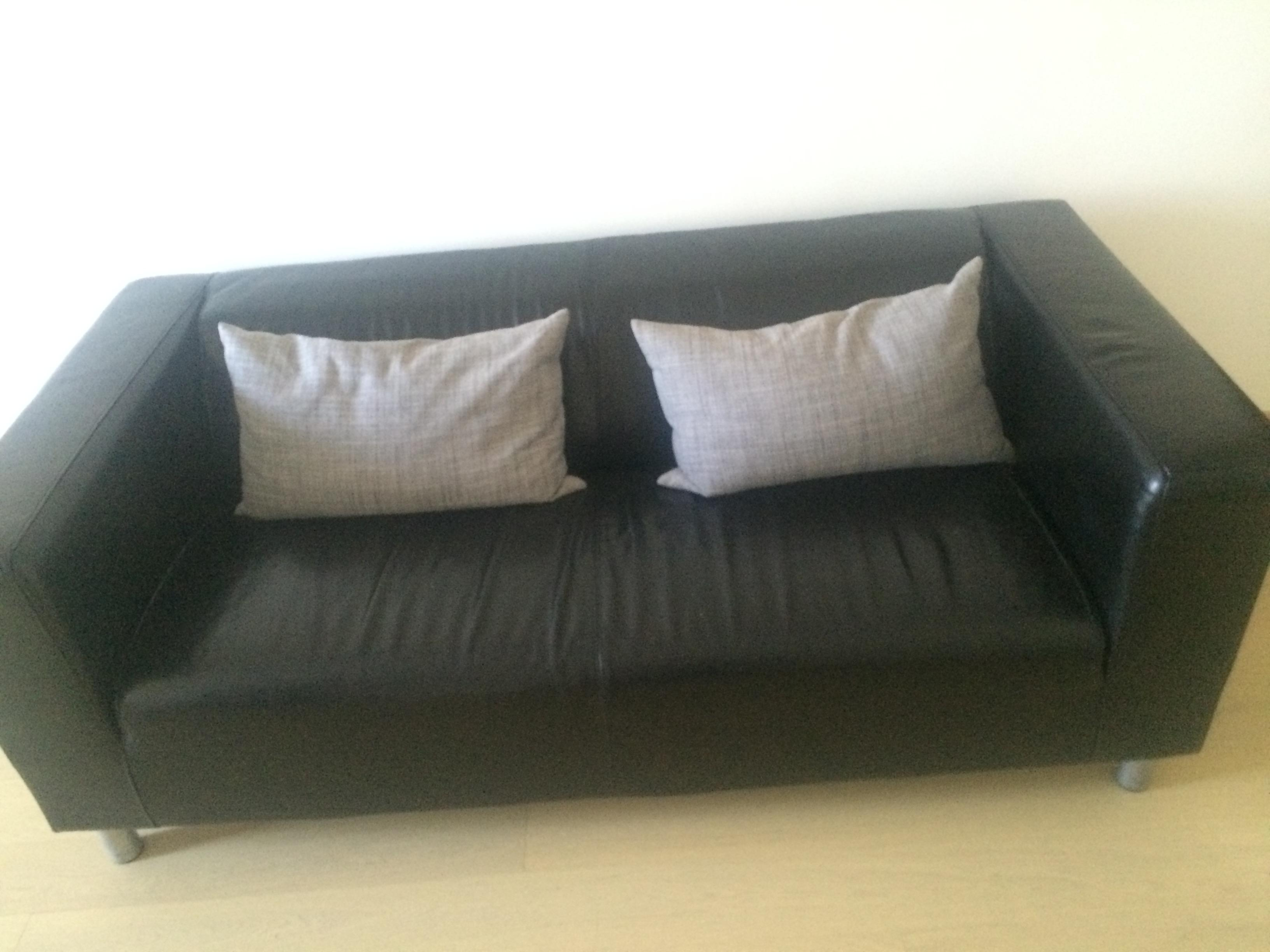 Surprising Leather Sofa For Sale Good As New Ikea Klippan Machost Co Dining Chair Design Ideas Machostcouk