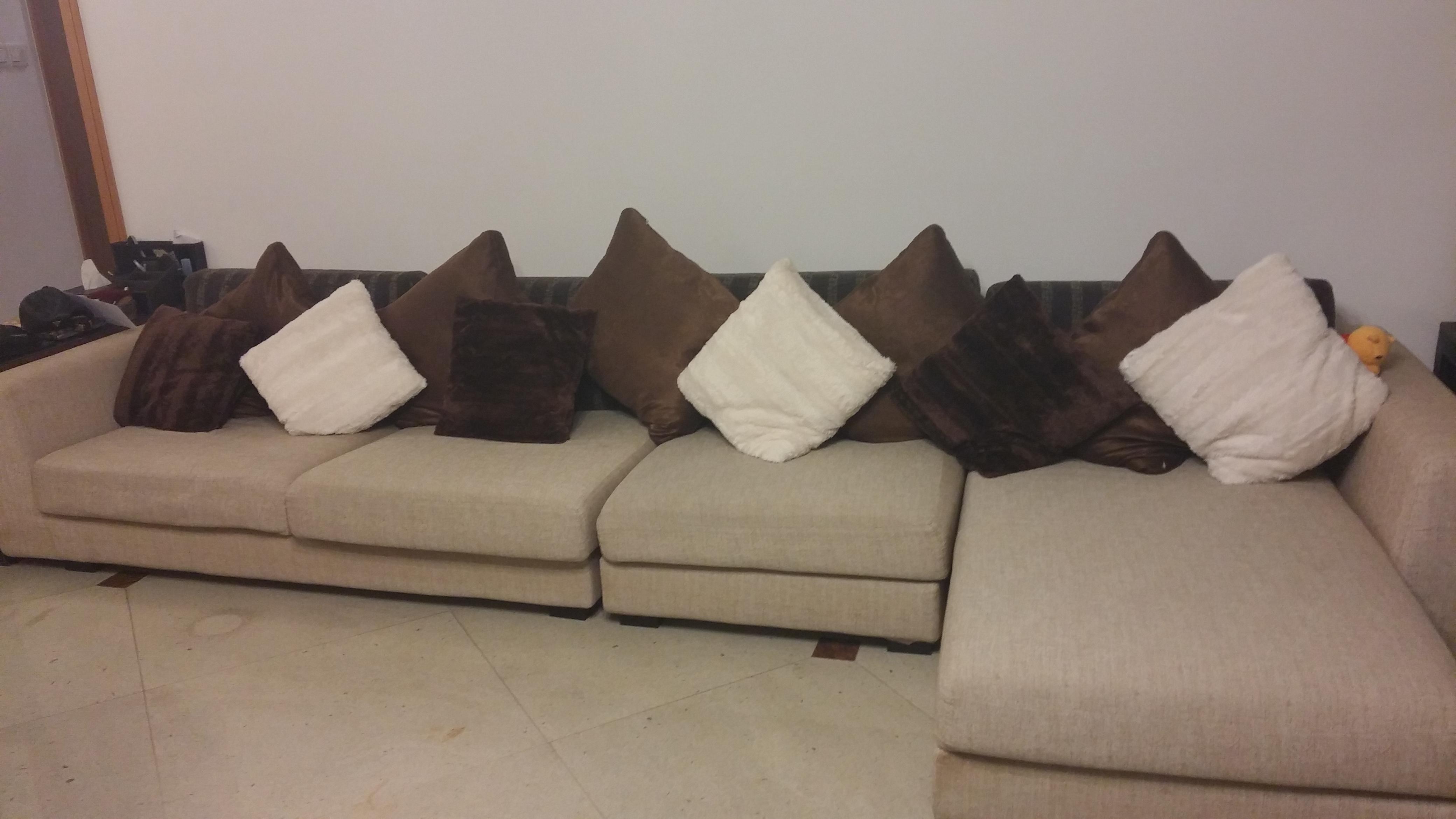 Modern 4 seater L shape Sofa Brown Colour