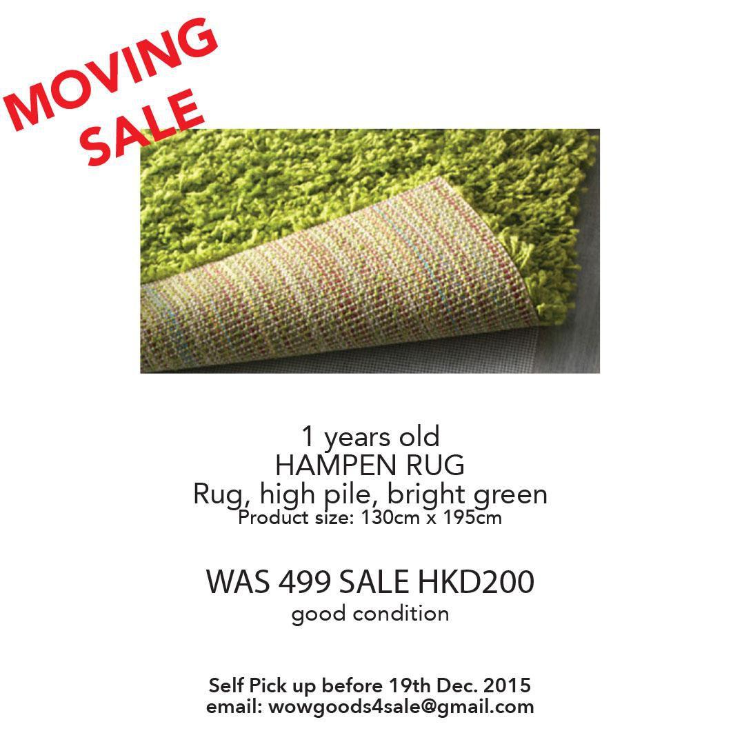 MOVING SALE IKEA HAMPEN RUG