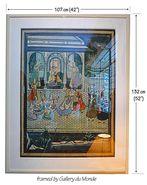 Mughal court scene on silk - MAKE OFFER.