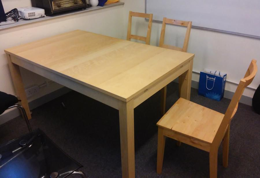 Solid Wood Dining Table And Chair Set For Sale