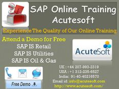 SAP IS OIL AND GAS Online Training | SAP IS OIL AND GAS Online Learning
