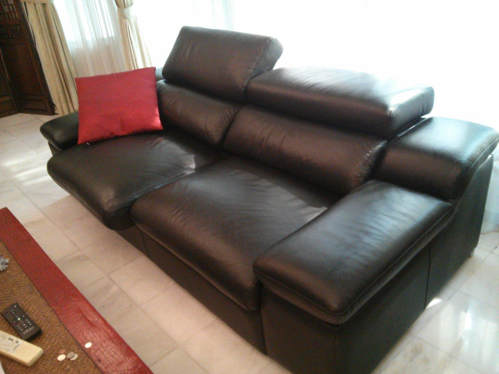 2 Sofas: Miva leather Sofa 3 2 seater for sale | Secondhand.my