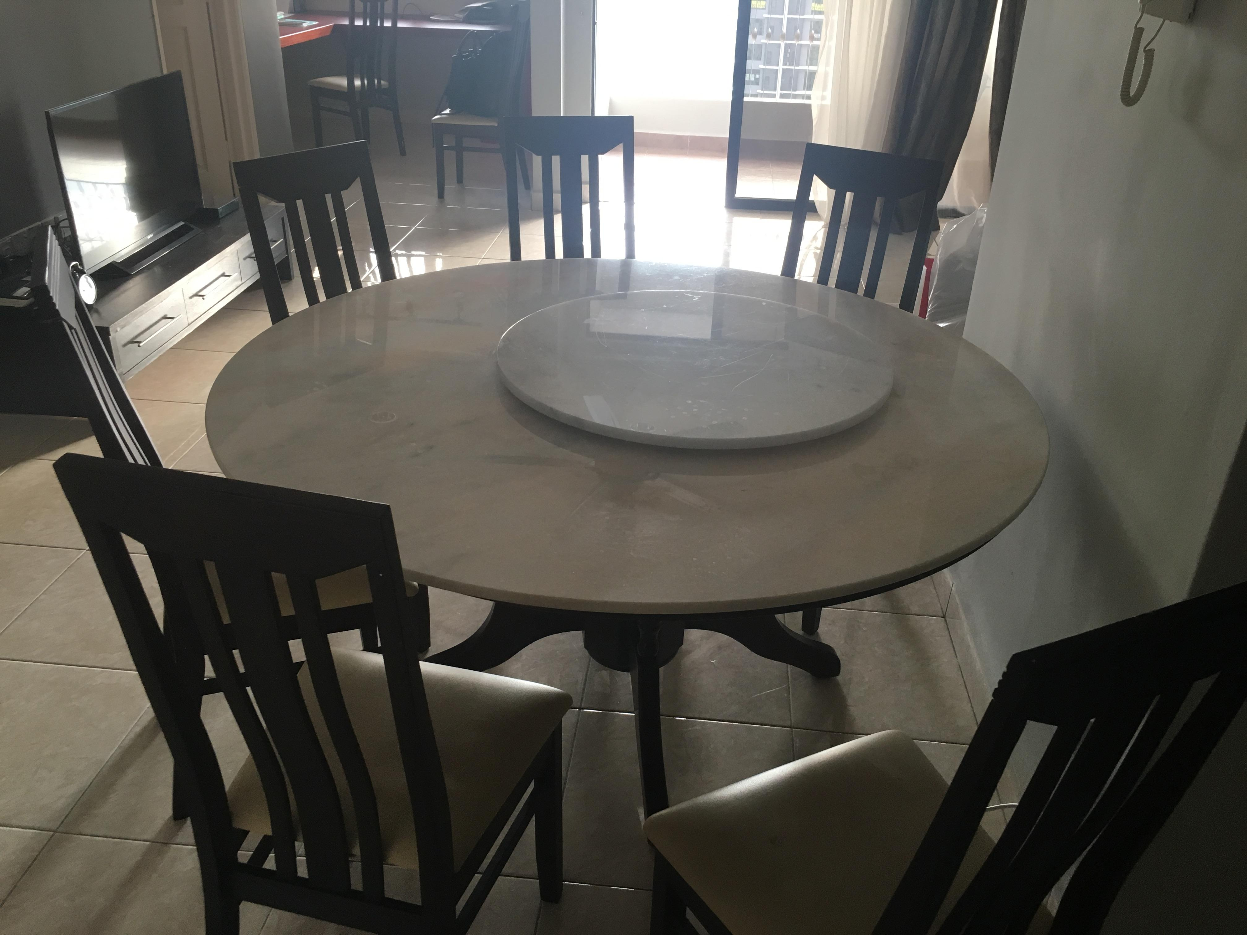 8 Seater Round Marble Dining Table For Sale Secondhand My