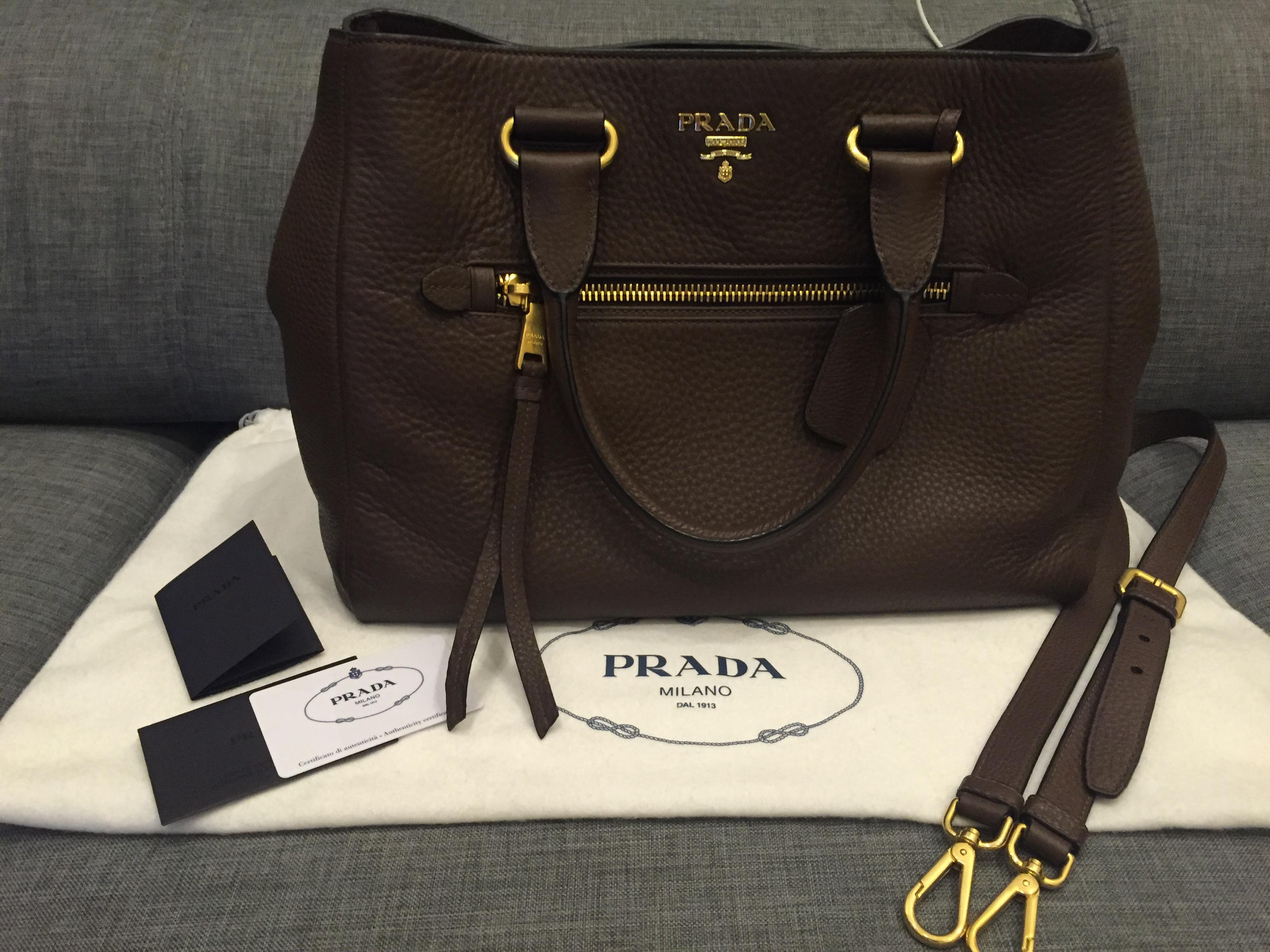 37b2e04590b7 Authentic Prada Vitello Daino Tote Bag | Secondhand.my