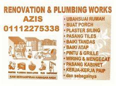 azis plumbing dan renovation 01112275338 wangsa maju