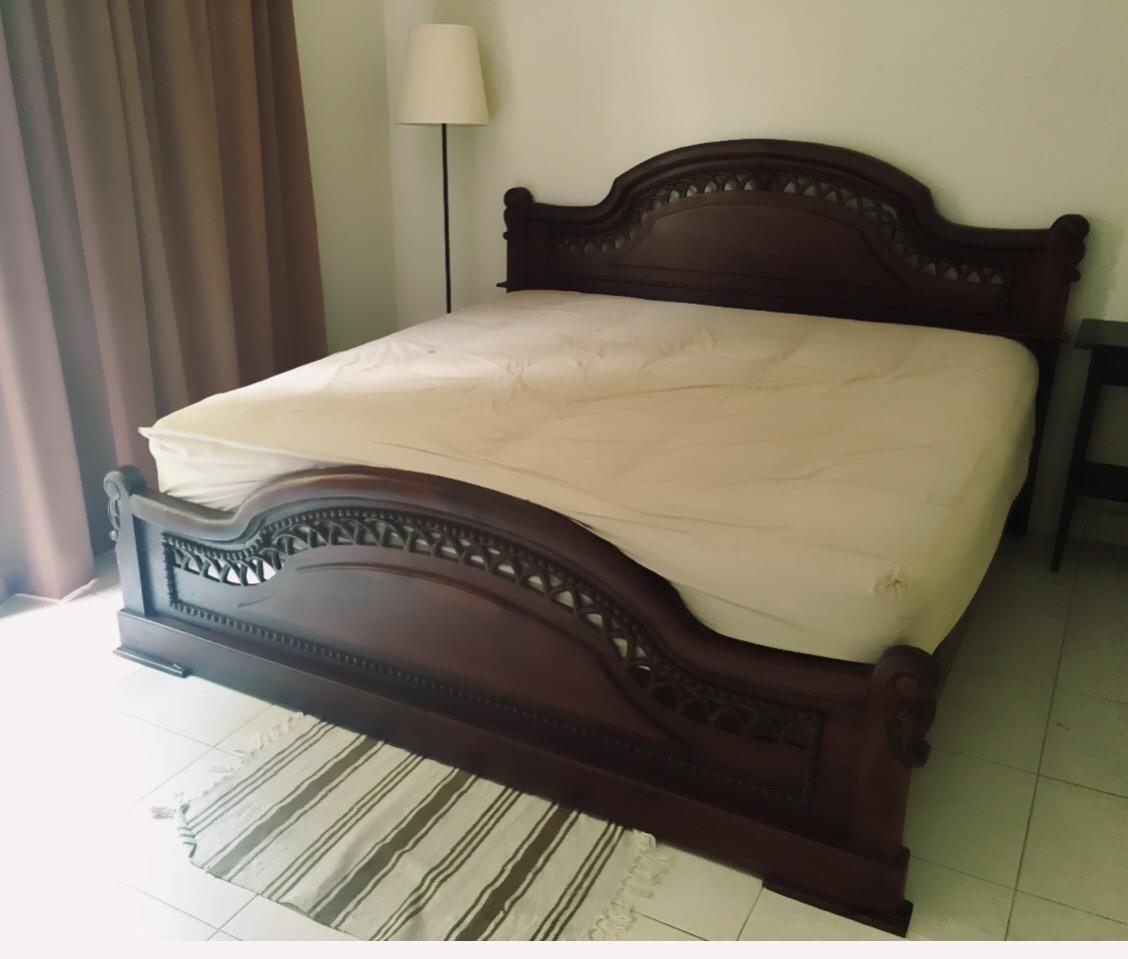 bed frame king size 100 jati wood secondhand my