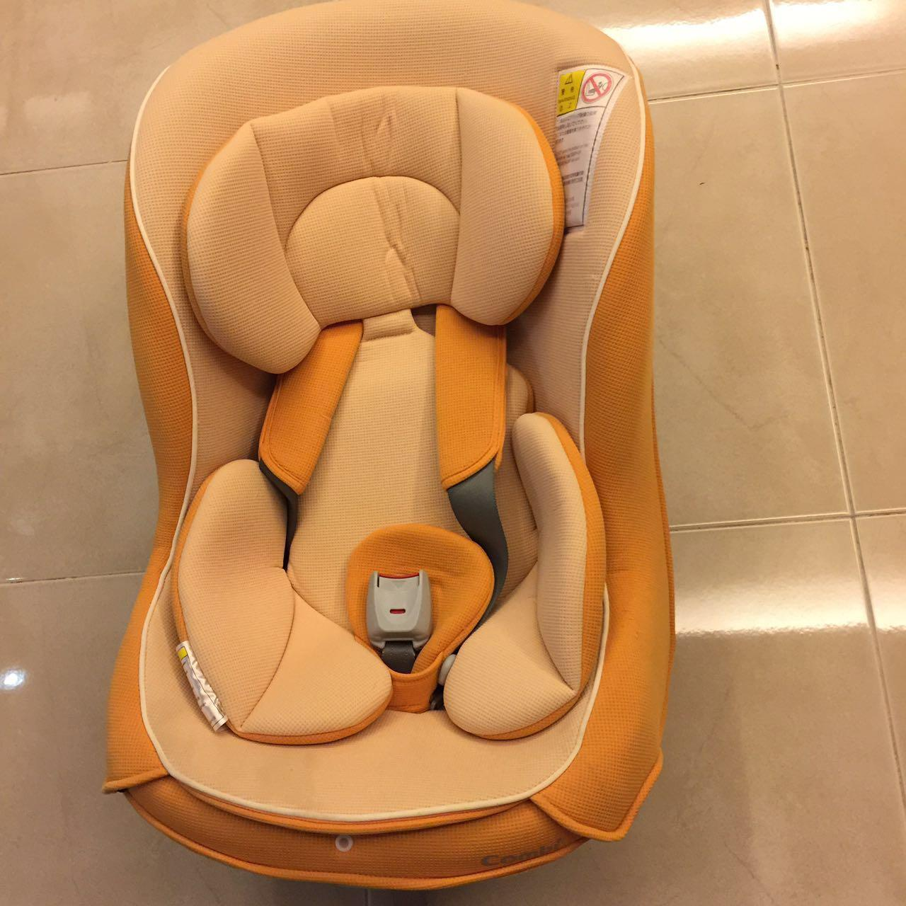 Combi : coccoro S convertible car seat (orange color) | Secondhand.my