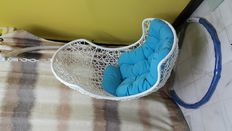 Egg Shaped White Hammock Swing Chair