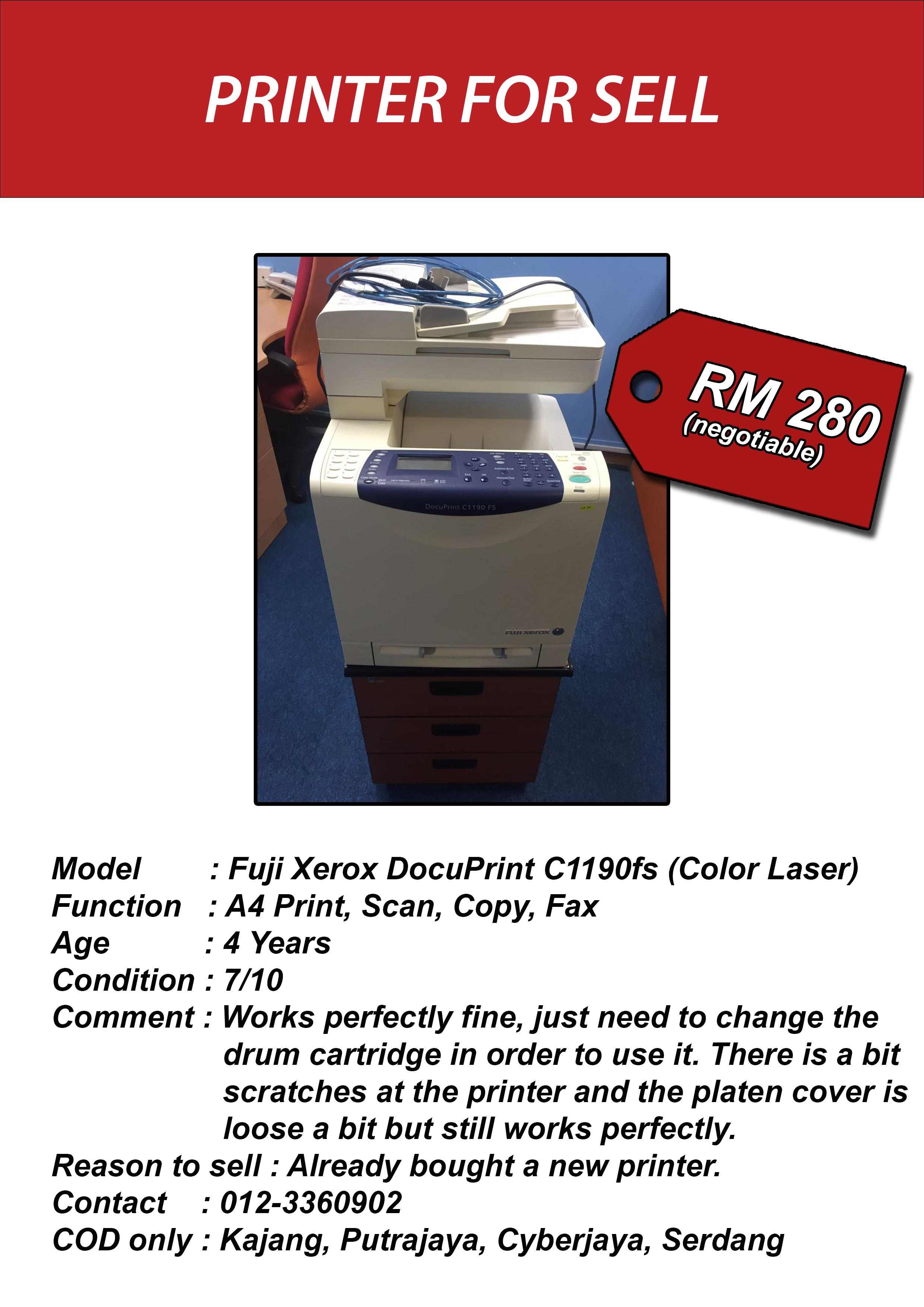 Fuji Xerox DocuPrint C1190fs Color Laser Printer
