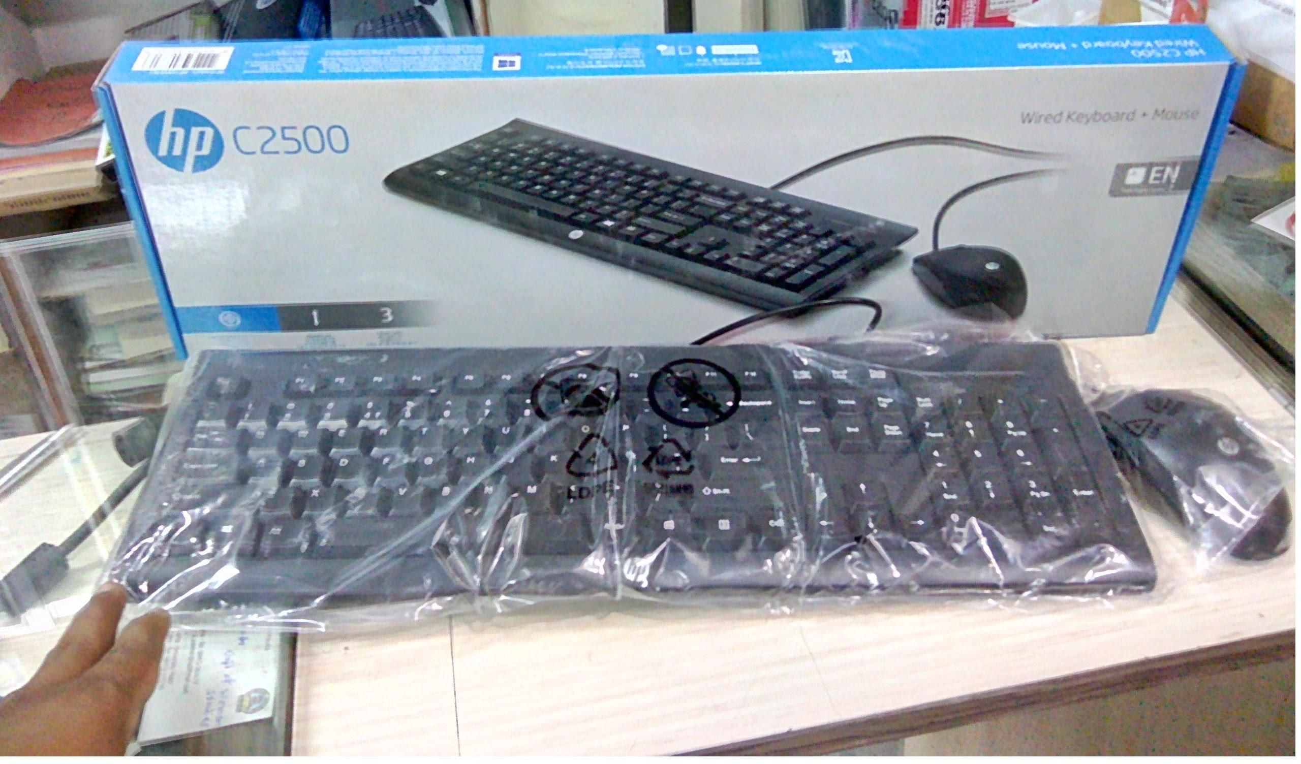 e9c2aa4373c HP C2500 (Wired Keyboard Mouse - 1,200DPI) - NEW | Secondhand.my