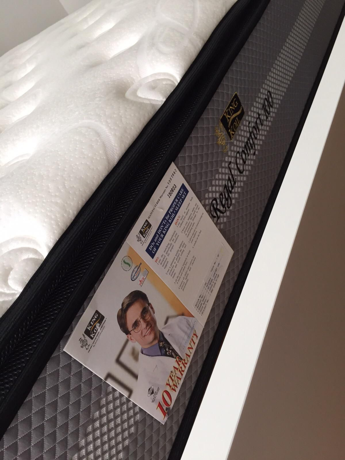 Ikea Bed Frame And King Koil Mattress For Sale Secondhand My