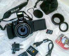 Nikon Coolpix P610 Conversion Lens Extra Battery Bag