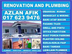 renovation and plumbing 0176239476 azlan afik taman bunga raya