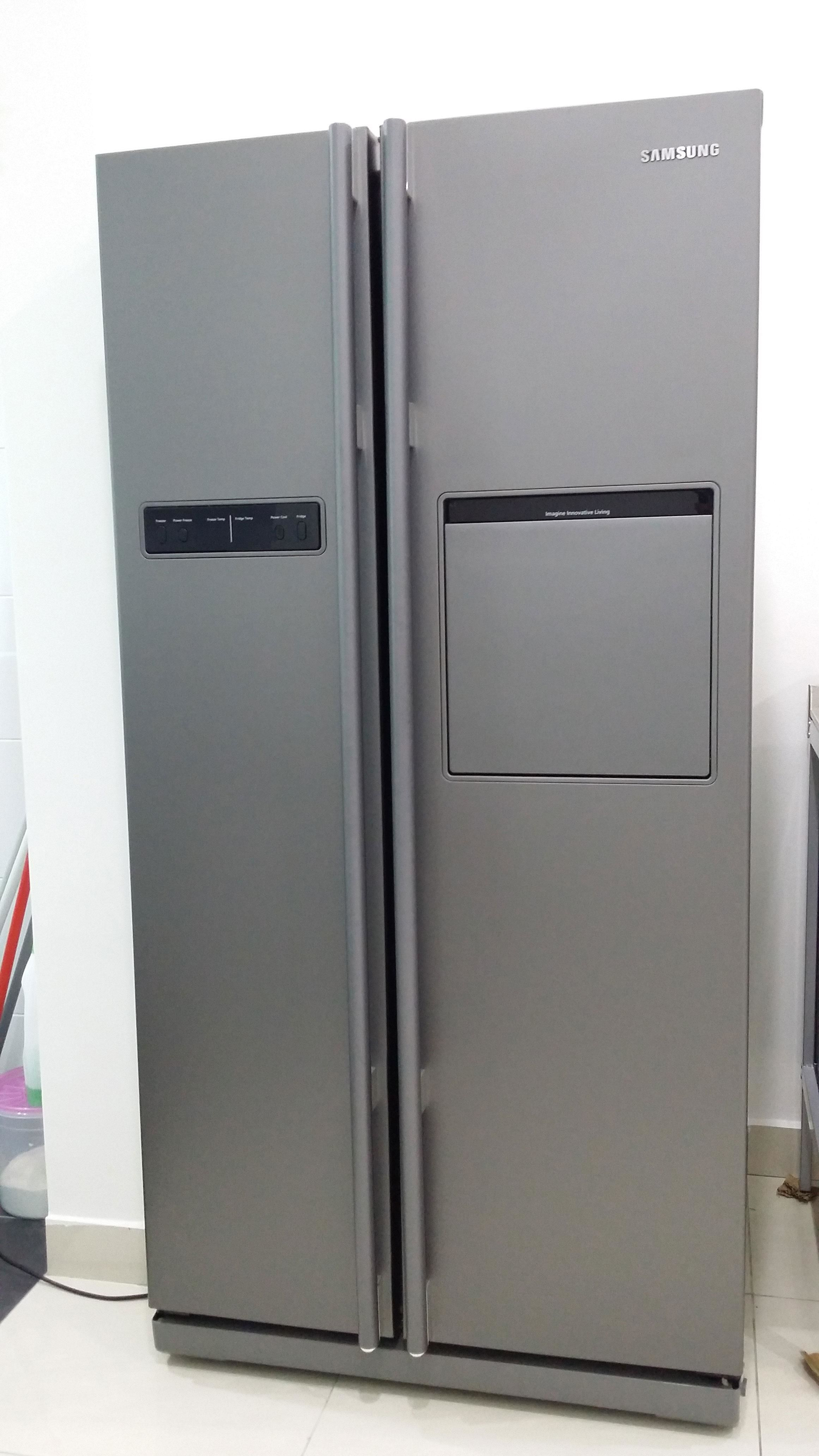 samsung side by side refrigerator for sell. Black Bedroom Furniture Sets. Home Design Ideas