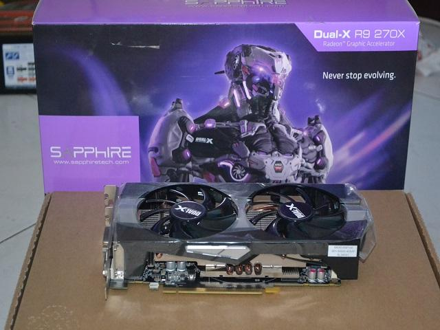 Sapphire AMD Radeon Dual X R9 270X 2GB GDDR5 2nd hand