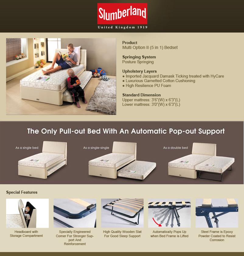 Slumber Kids Super Single Pull Out Bed By Slumberland For