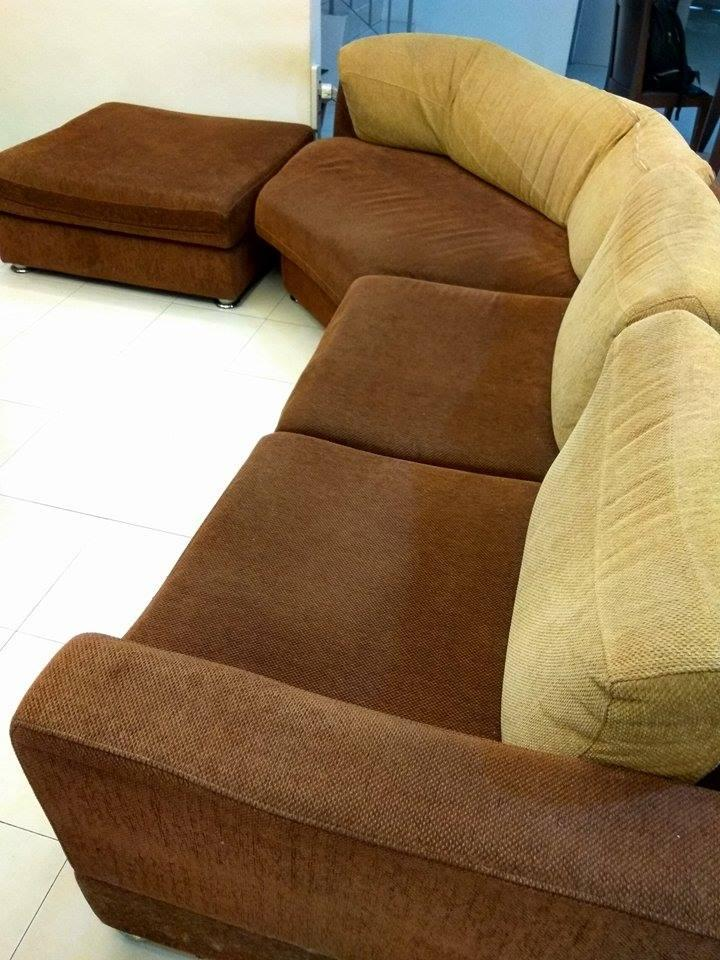 Used Lorenzo Fabric Corner L Shape Sofa For Sale