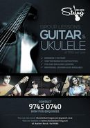 Group Guitar and Ukulele Lessons.