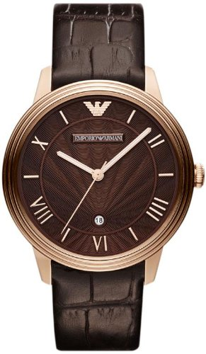 EMPORIO-ARMANI-AR1613-Classic-Chronograph-Brown-Dial-Brown-Leather-Strap-Mens-Watch
