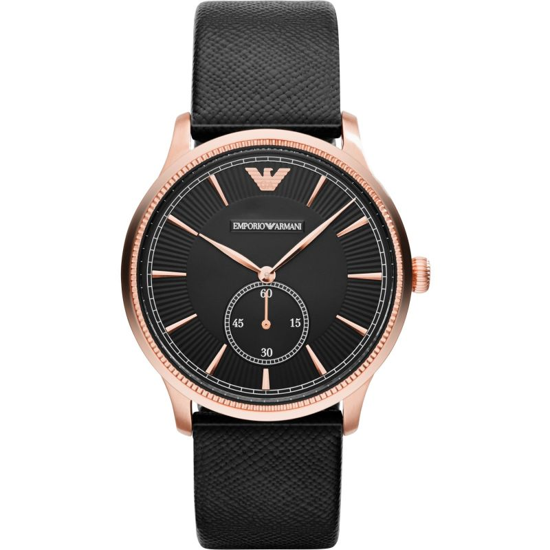 Emporio-Armani-AR1798-Classic-Black-Dial-Black-Leather-Strap-Mens