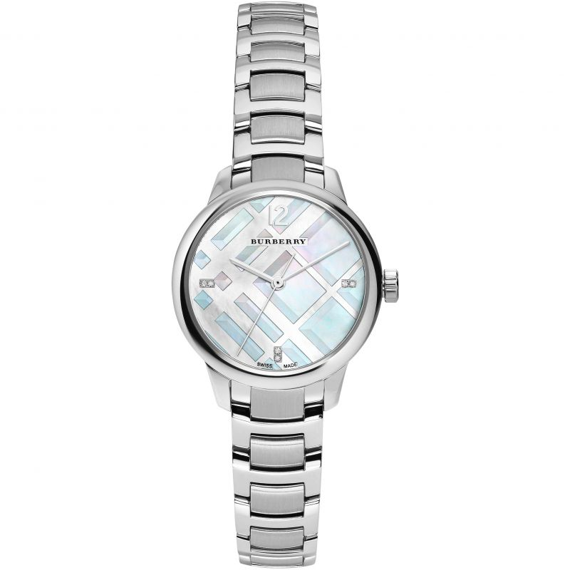 Burberry-Womens-Classic-Round-BU10110-Silver-Stainless-Steel-Swiss-Quartz