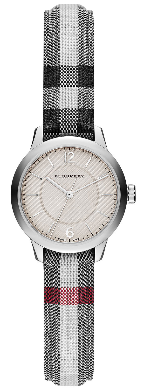 Burberry-Womens-Swiss-Stone-Check-Fabric-Strap-26mm-BU10200