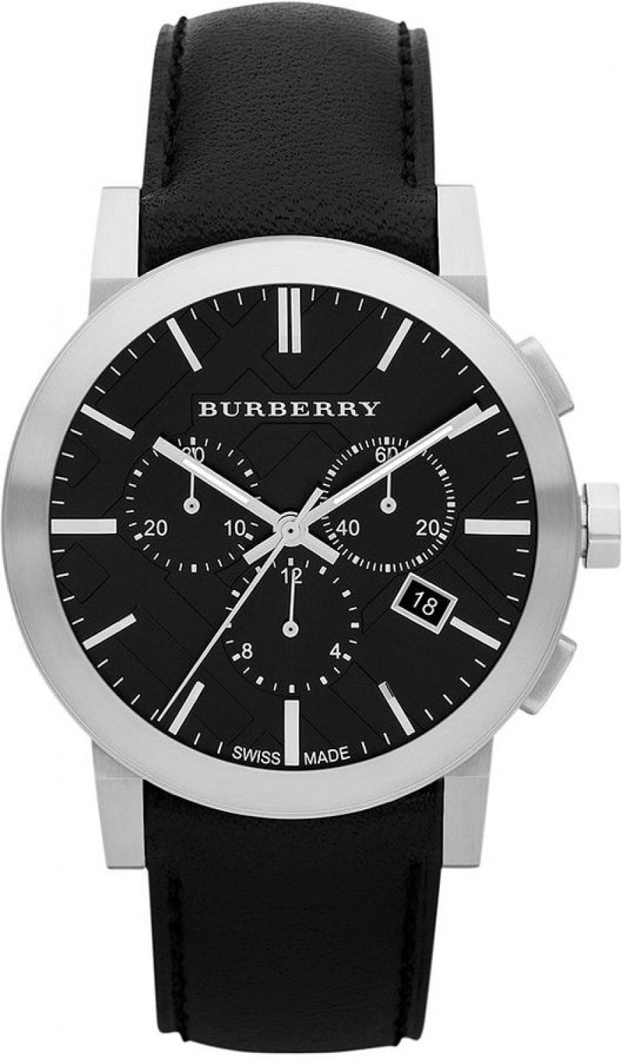 Burberry-Chronograph-Black-Dial-Black-Leather-Mens-BU9356