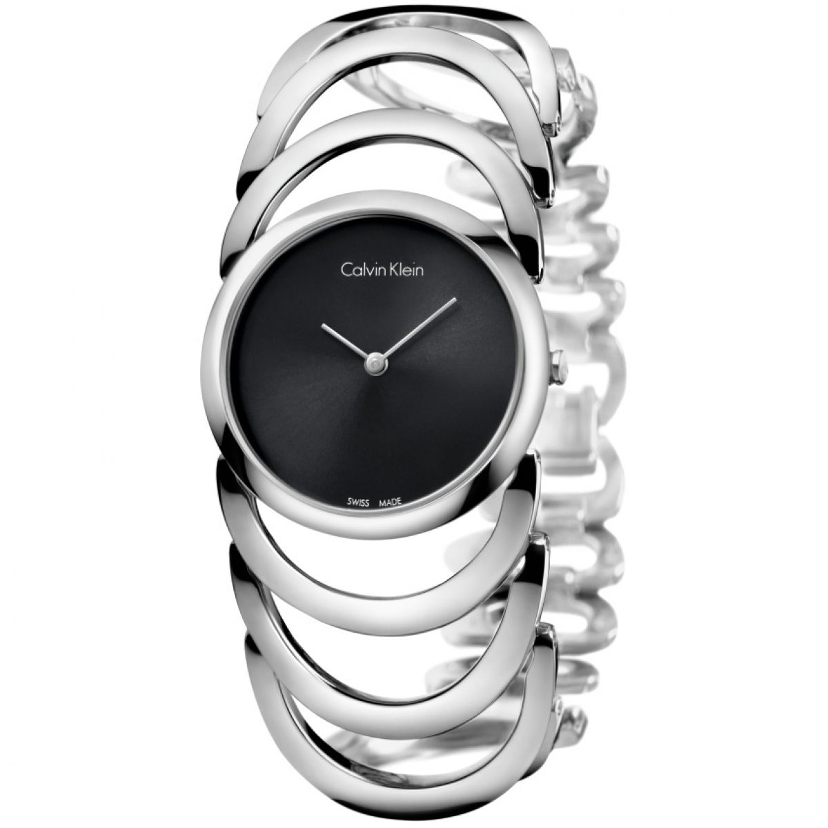 Calvin-Klein-K4G23121-Ladies-Body-Stainless-Steel-Bracelet-Watch-Black-Dial