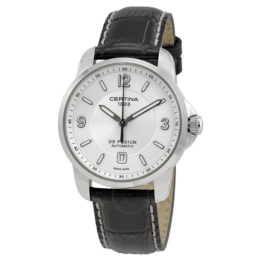 Certina-DS-Podium-Automatic-Silver-Dial-Black-Leather-Mens-C001.407.16.037.00-(C0014071603700)