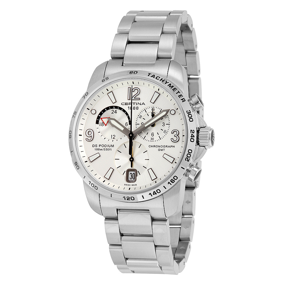 Certina-DS-Podium-GMT-Silver-Dial-Mens-C001.639.11.037.00-(C0016391103700)