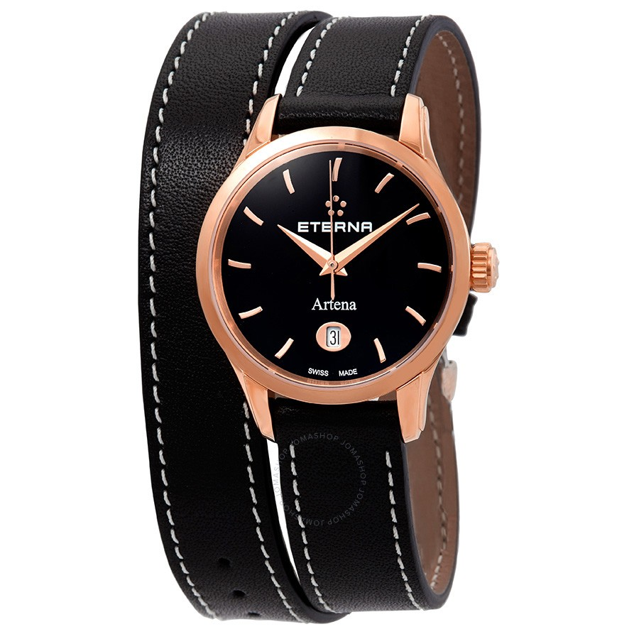 Eterna-Artena-Black-Dial-Black-Leather-Ladies-2530.56.41.1348-(253056411348)
