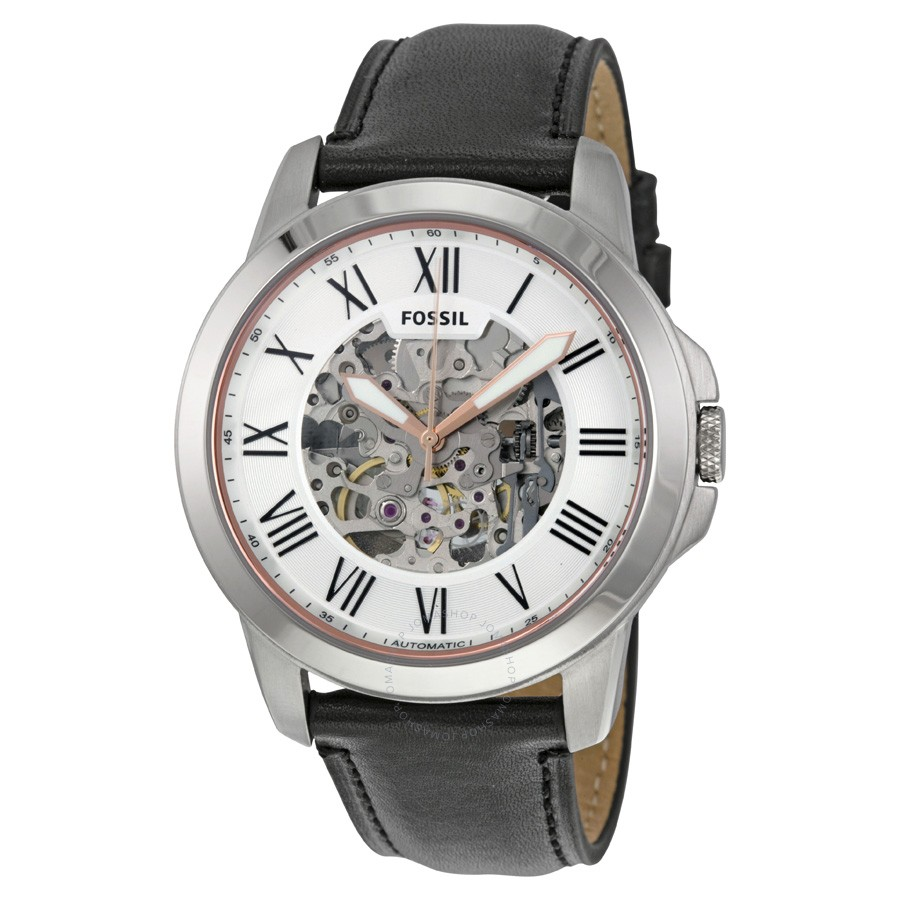FOSSIL-Grant-Silver-Skeleton-Automatic-Mens-Watch-ME3101