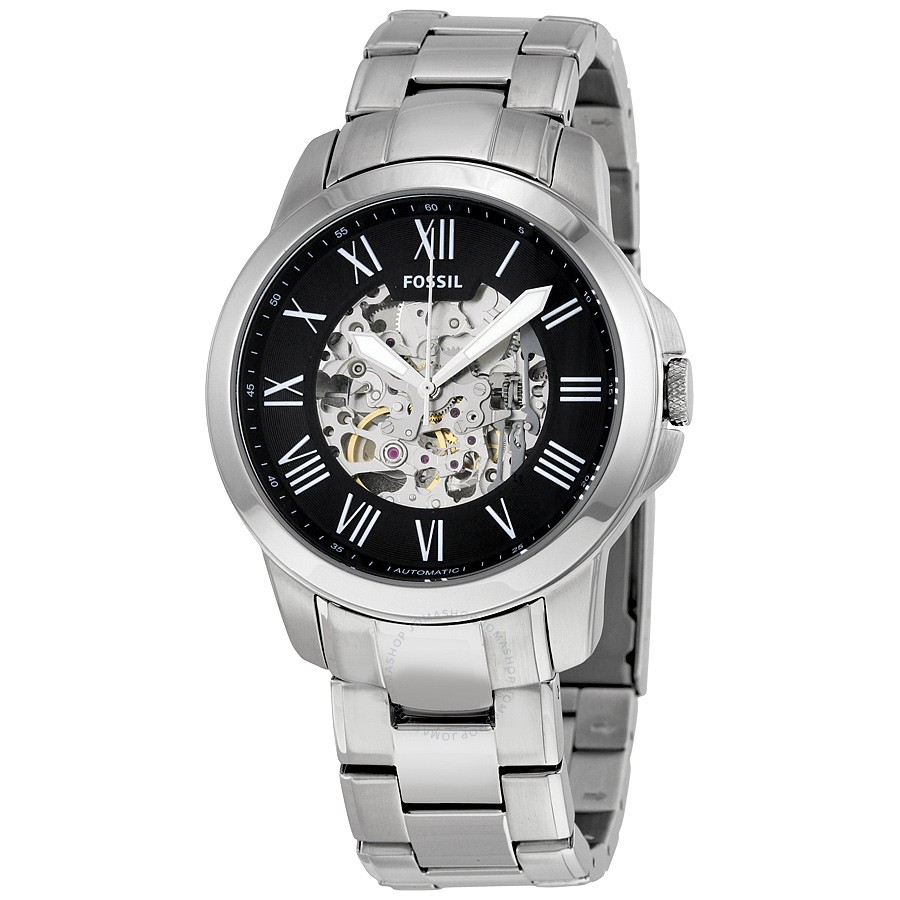 FOSSIL-Grant-Black-Skeleton-Automatic-Mens-Watch-ME3103