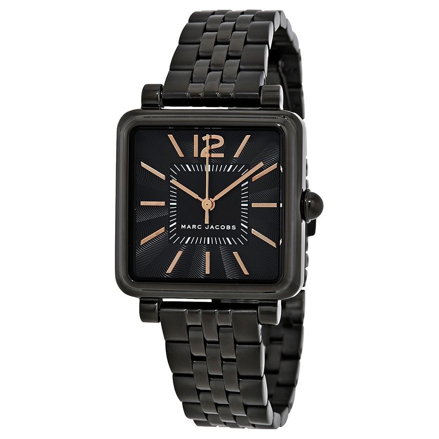 Vic-Black-Dial-Ladies-Stainless-Steel-Watch-MJ3518