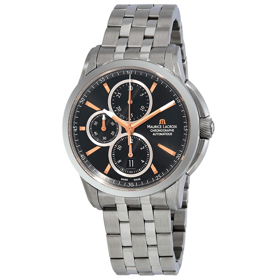 Maurice-Lacroix-Pontos-Automatic-Chronograph-Black-Dial-Automatic-Mens-Stainless-Steel-PT6188-SS002-332