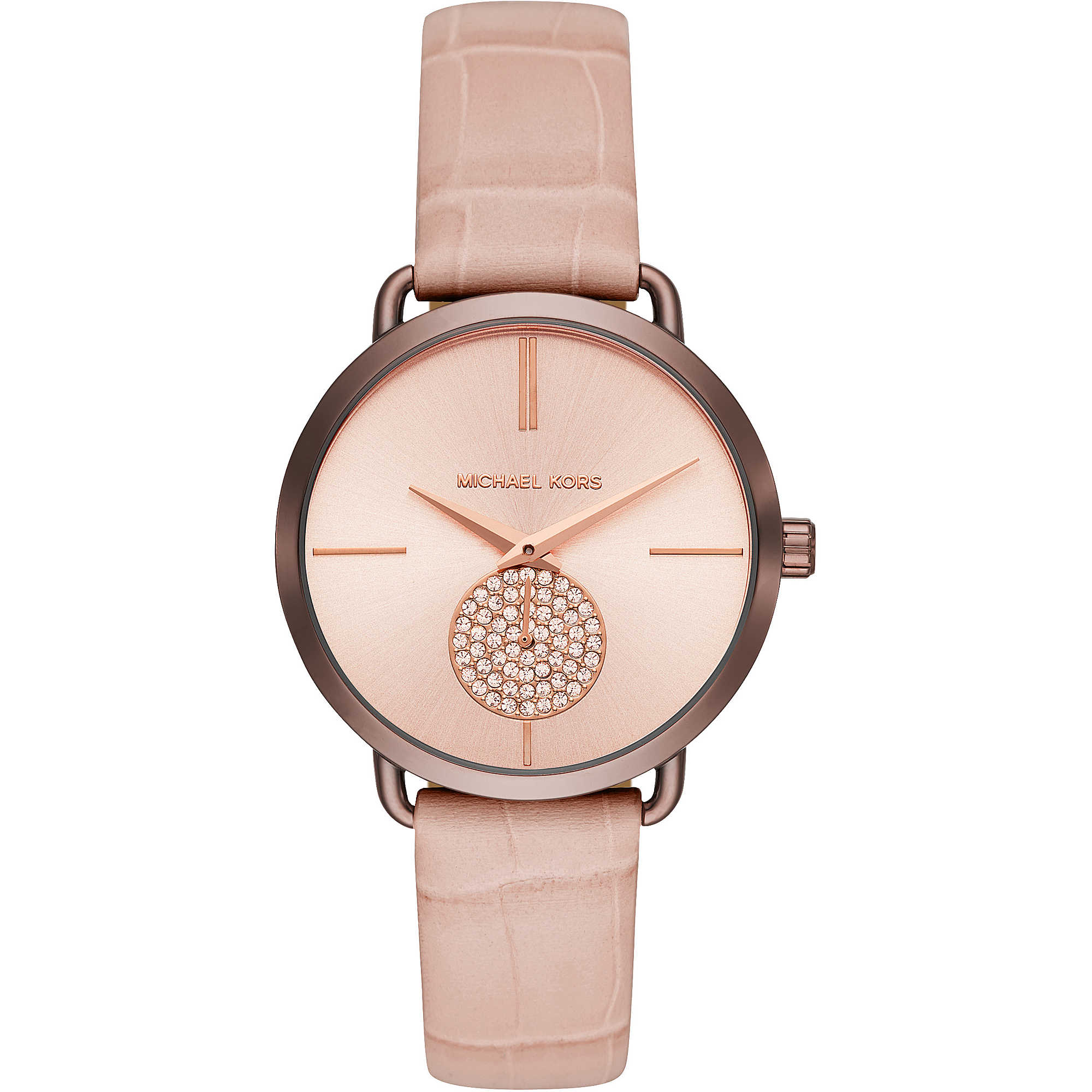 Michael-Kors-MK2721-Ladies-Portia-Sable-IP-and-Blush-Croco-Leather-Watch