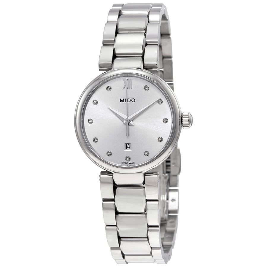 Mido-Baroncelli-Silver-Diamond-Dial-Ladies-M022.210.11.036.00-(M0222101103600)