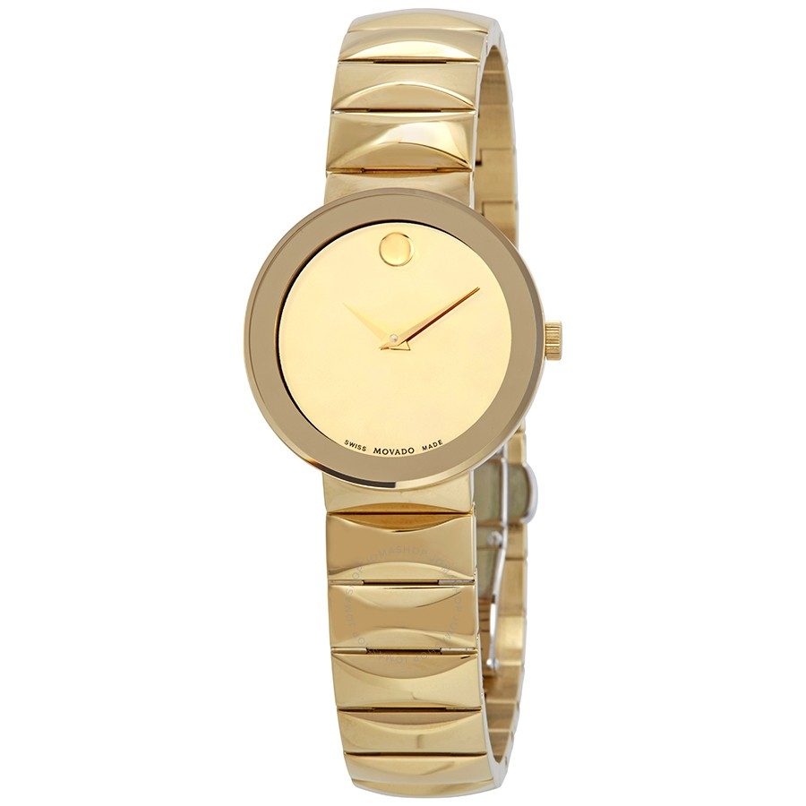 Movado Sapphire Yellow gold-plated Mirror Dial Ladies 0607214