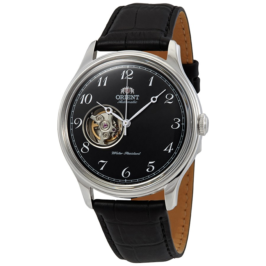 Orient Open Heart Automatic Black Dial Mens RA-AG0016B10B