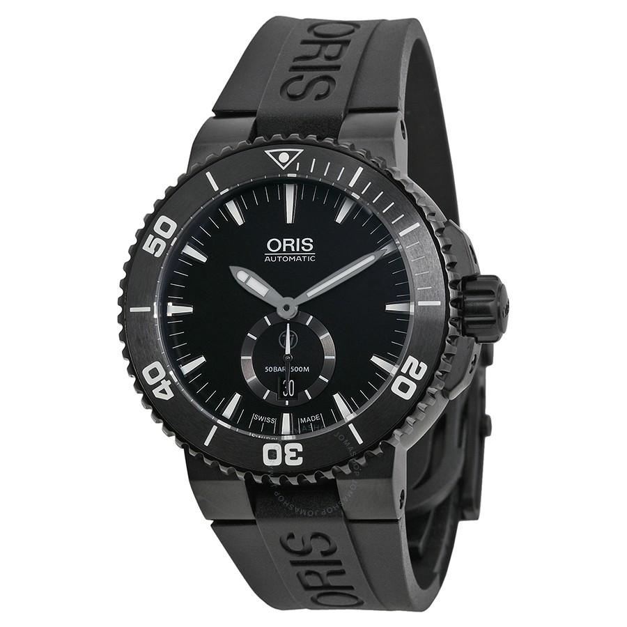 Oris-Aquis-Diver-Automatic-Black-Dial-Titanium-Black-Rubber-Mens-73976747754RS