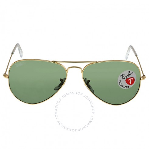 RAY-BAN-Aviator-Green-Polarized-Sunglasses-RB3025-001-58-58-14