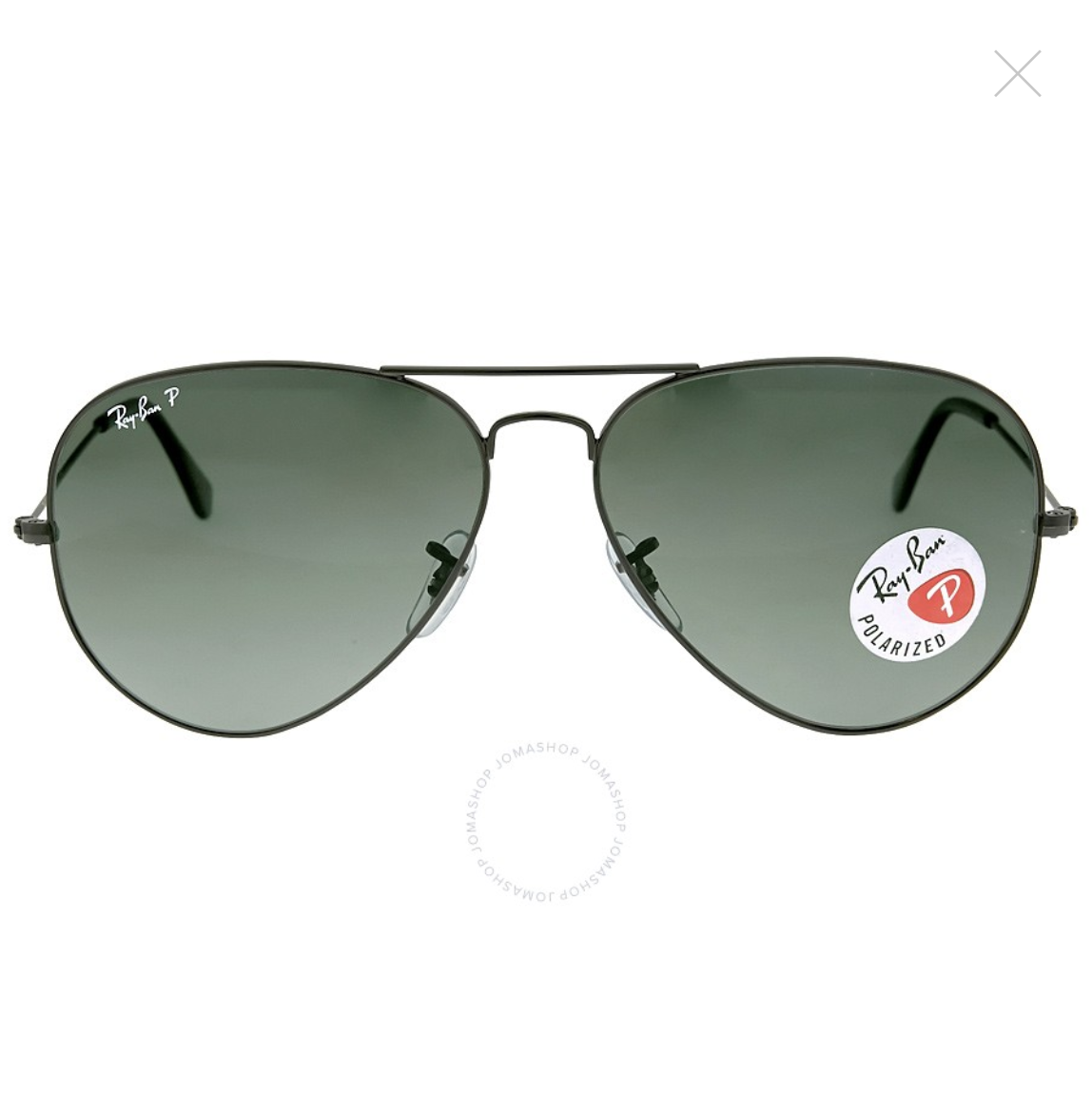 RAY-BAN-Aviator-Classic-Polarized-Green-Classic-G-15-Sunglasses-RB3025-002-58-62-14