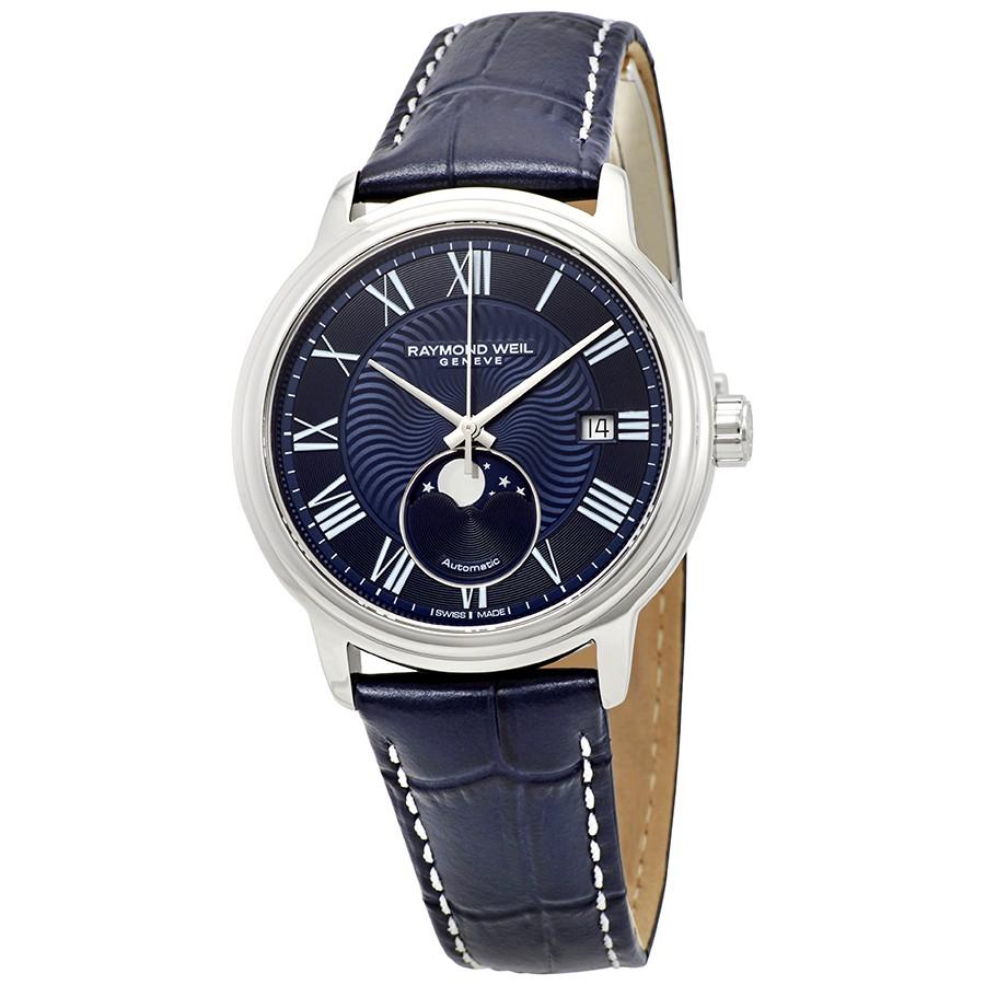 Raymond-Weil-Maestro-Automatic-Blue-Dial-Mens-2239-STC-00509