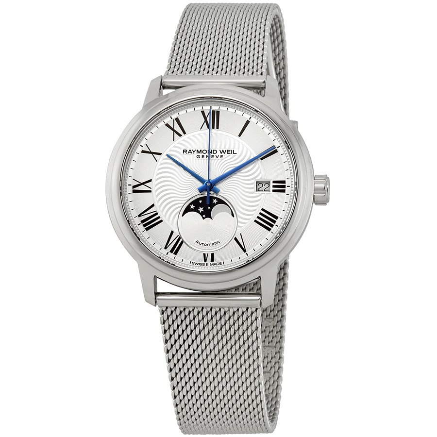 Raymond-Weil-Maestro-Automatic-Silver-Dial-Mens-Moonphase-2239M-ST-00659