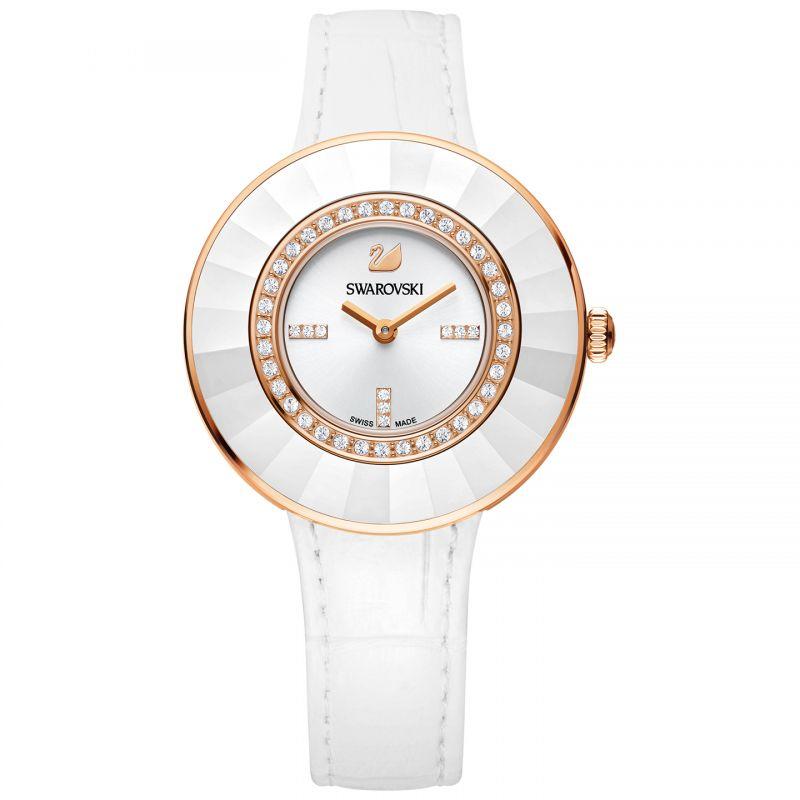 Swarovski-Octea-Dressy-White-Ceramic-Bezel-Rosegold-Tone-Watch-5182265