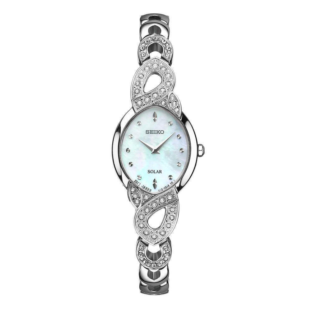 Seiko-Womens-Solar-Stainless-Steel-Swarovski-Crystals-Gift-Set-SUP367