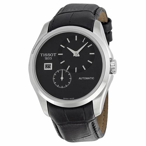 Tissot-Couturier-Automatic-Black-Dial-Black-Leather-Mens-T035.428.16.051.00-(T0354281605100)