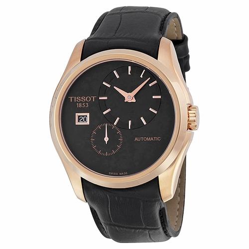 Tissot-Couturier-Black-Dial-Black-Leather-Mens-T035.428.36.051.00-(T0354283605100)